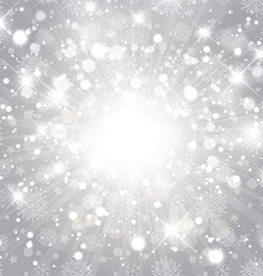 silver christmas background 1711 vector image