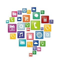 Smartphone applications design vector image