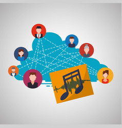 social network design social media icon isolated vector image