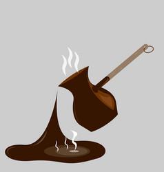 splashing coffee vector image