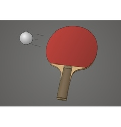 Table tennis racket vector image