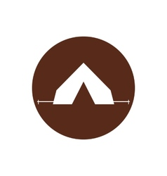 Tourist tent sign icon Camping symbol Travel vector image
