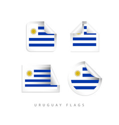 uruguay label flags template design vector image