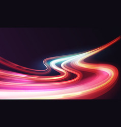 Waves curves light trail long exposure effect vector