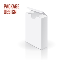 White Product Cardboard A vector image