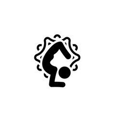 yoga scorpion pose icon flat design isolated vector image