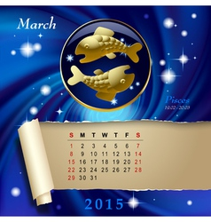 Zodiac Calendar page vector