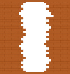 Broken brick wall with place for text vector