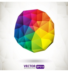 Polygonal sphere design element vector image vector image