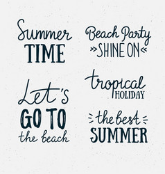 hand drawn stylish summer typography lettering vector image vector image