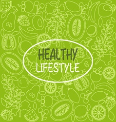 healthy food poster or banner vector image vector image