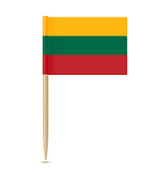 lithuania flag toothpick vector image vector image