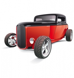 red hot rod vector image vector image