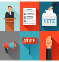Vote political elections concept for vector image vector image