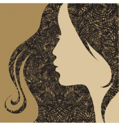 girl's face grunge vector image vector image