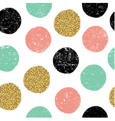 gold green and black dots seamless textured vector image vector image