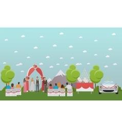 Wedding ceremony design banners Outdoor vector image vector image