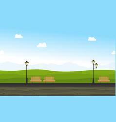 beauty landscape garden for background game vector image