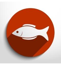 fish web icon vector image