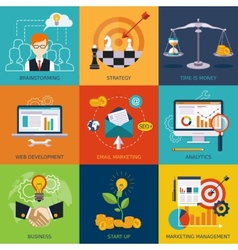 flat business and finance concepts Design vector image
