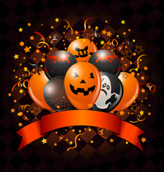 halloween balloons design vector image
