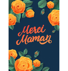 mother s day greeting card floral background vector image vector image