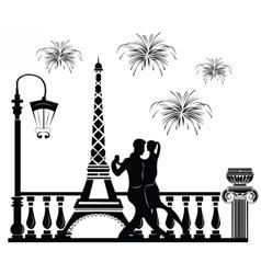 Romantic couple dancing vector