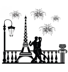 Romantic couple dancing vector image