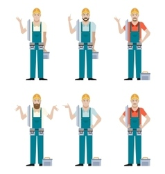 Set of Electricians vector image vector image