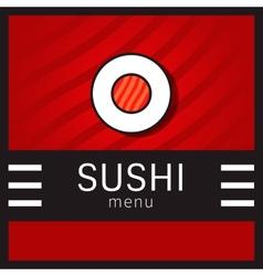 Sushi menu vector image vector image
