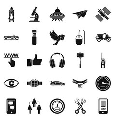 web icons set simple style vector image