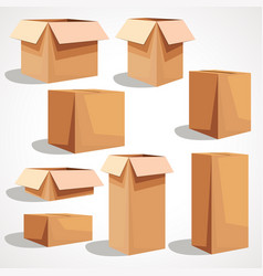 a set of paper boxes vector image