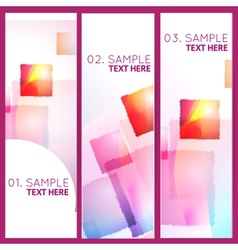 Abstract geometric colorful 3 banners vector image vector image