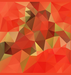 Abstract polygonal square background red orange vector
