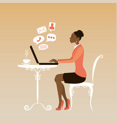 african american office worker or business woman vector image