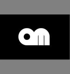 Am a m black white bold joint letter logo vector