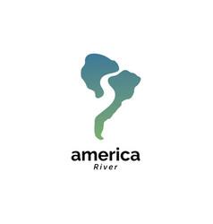 America river logo design vector