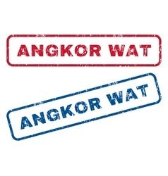 Angkor wat rubber stamps vector