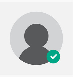 approving person to a group chat icon design vector image