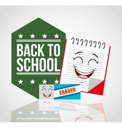 Back to school with character supplies vector