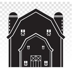 Barn house or farmhouse with pole barns flat icon vector