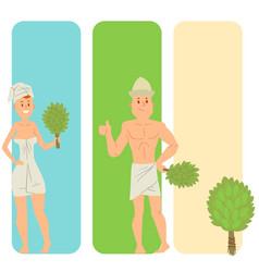 Bath people body washing face cards bath taking vector
