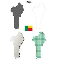 Benin outline map set vector