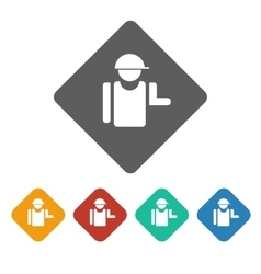Builder icon vector
