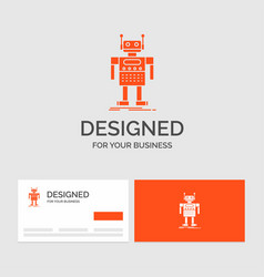 business logo template for robot android vector image