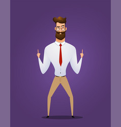 businessman show you sign vector image