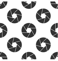 camera shutter icon seamless pattern on white vector image