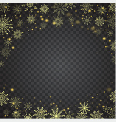 christmas falling snow gold glitter particles on a vector image