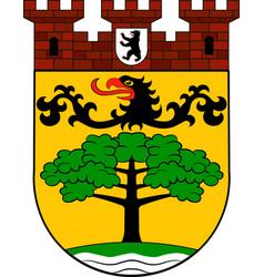 Coat of arms of steglitz-zehlendorf in berlin vector