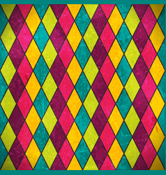 Colorful rhombus grunge background vector image